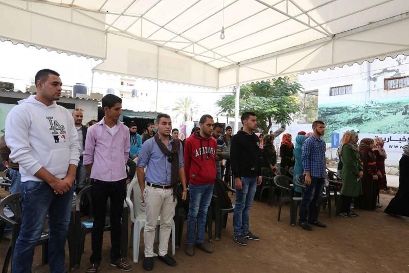 فريق عيون الامل ينظم فعالية حول هجرة الشباب من غزة