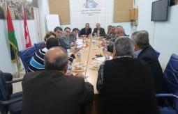 بيت الصحافة يستضيف لقاءً بين وفد من الحكومة السويسرية وآخر من الفصائل السياسية بغزة