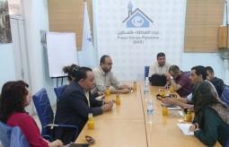 وفد من شبكة راية الاعلامية بالضفة يزور بيت الصحافة بغزة
