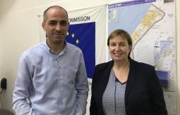 رئيس بيت الصحافة يلتقي مبعوثة الاتحاد الأوروبي سوزانا تيرستال
