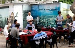 بيت الصحافة تستضيف برنامج إذاعى لراديو فرنسا الدولي