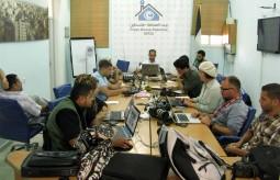 بيت الصحافة خلية نحل للاعلام المحلي والأجنبي اثناء العدوان على غزة