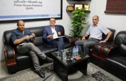 """بيت الصحافة يستقبل وفداً من مكتب تنسيق الشؤون الإنسانية """" OCHA"""""""
