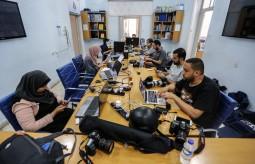 من داخل مقر بيت الصحافة - فلسطين