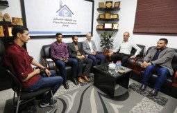 بيت الصحافة يستقبل وفداً من التجمع الإعلامي الفلسطيني