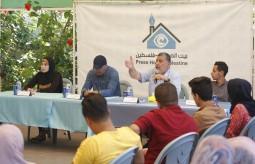 فريق فكرة الشبابي بالتعاون مع بيت الصحافة ينظم لقاءً سياسيا