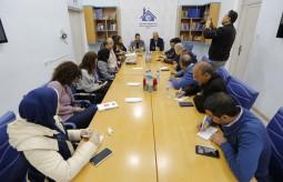 بيت الصحافة يعقد جلسة نقاش مع توماس نكلاسن القائم بأعمال الممثلية الأوروبية في الضفة والقطاع والأونروا
