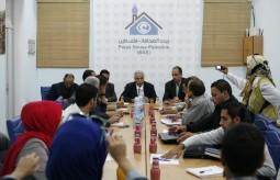 بيت الصحافة تنظم لقاءا خاصا مع وزير الزراعة والشؤون الاجتماعية شوقي العيسة