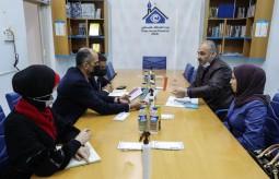 وفد من دائرة غزة الانتخابية يزور بيت الصحافة