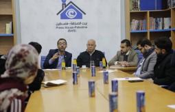 مناصرة حقوق الإعلاميين تعقد ورشة عمل لمساندة حقوق الصحافي الحر في غزة