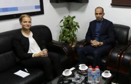 المتحدثة باسم ممثلية جمهورية المانيا الاتحادية برام الله تزور بيت الصحافة