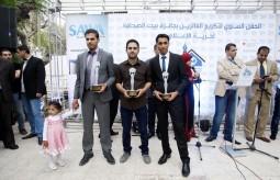 تكرم الفائزين بالجائزة السنوية لحرية الإعلام ببيت الصحافة