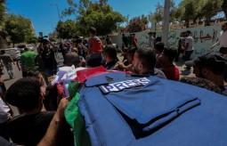 جانب من جنازة الشهيد الصحفي  يوسف ابو حسين