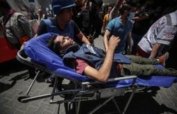 إصابة صحفي فلسطيني بقصف إسرائيلي على غزة