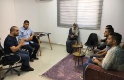 جانب من الزيارات الميدانية لمؤسسات وشركات إعلامية في غزة