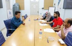 """بيت الصحافة يعقد مقابلات شخصية للمتقدمين للالتحاق بمشروع """"تحدي الصور النمطية السائدة تجاه المرأة"""" في غزة"""