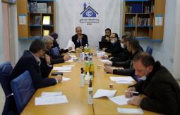 جانب من مناقشة مسودة ميثاق الشرف الصحفي لتغطية الانتخابات الفلسطينية