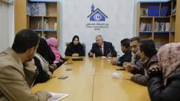 مركز الهدف يعقد لقاء حول 'مشاركة الشباب السياسية' في بيت الصحافة