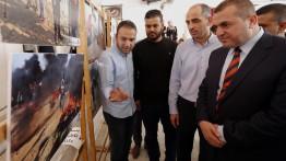 """جامعة فلسطين وبيت الصحافة تفتتحان معرض """"صحفيون على خط النار"""""""