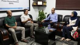 بيت الصحافة يستقبل وفدا من جامعة الأسراء