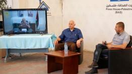 كلمة الوزير أبو سيف في الصالون الثقافي لبيت الصحافة - فلسطين