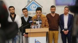 خلال مؤتمر صحفي عقد في بيت الصحافة.. كًتاب من غزة يستنكرون منعهم من السفر الى رام الله