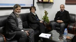 سفيرة كندا والقنصل العام يزوران بيت الصحافة