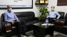 """مدير مكتب غزة بالـ"""" UNESCO"""" يزور بيت الصحافة"""