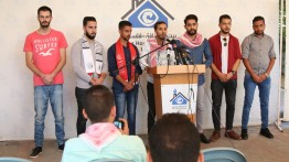الأطر الطلابية تعقد مؤتمرا صحفيا في بيت الصحافة