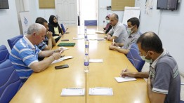 بيت الصحافة يستقبل وفدا من اتحاد الاعلام الرياضي الفلسطيني
