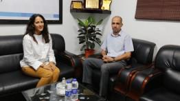 بيت الصحافة يستقبل رئيسة الشؤون السياسية بالقنصلية البلجيكية