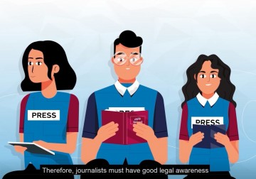 """بيت الصحافة ينشر """"موشن جرافيك"""" يهدف إلى زيادة الوعي حول الحريات الإعلامية للصحفيين في فلسطين"""