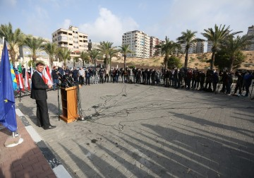 بيت الصحافة يشرف إعلاميا على تنظيم زيارة سفراء الاتحاد الاوروبي الى غزة