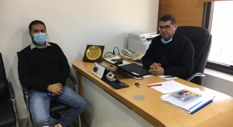 خلال زيارة عدد من المؤسسات الإعلامية والإذاعات في غزة
