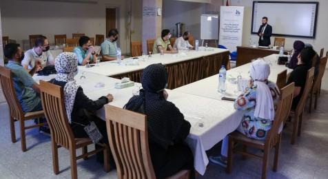 """جلسة توعية قانونية حول """"حق الصحفيين في السلامة المهنية بالقانون الفلسطيني"""""""