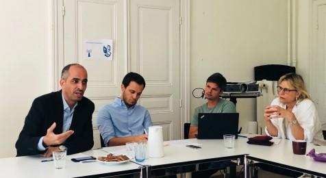رئيس بيت الصحافة يطلع مؤسسات دولية وحقوقية ووسائل إعلام سويسرية على واقع الصحافة بفلسطين