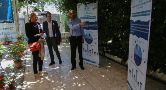 جانب من زيارة سفيرة دولة النرويج لدى دولة فلسطين تورون فيزتي