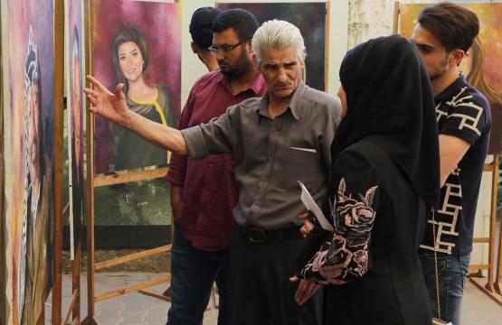 بيت الصحافة يستضيف معرض أنامل السلام للفنانة علا الشريف