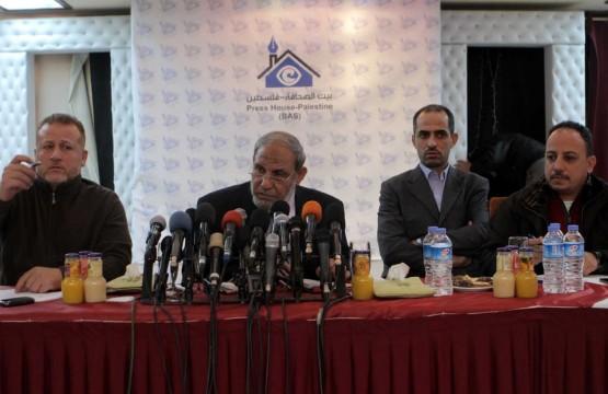 بيت الصحافة ينظم لقاءا للصحفيين مع الدكتور الزهار