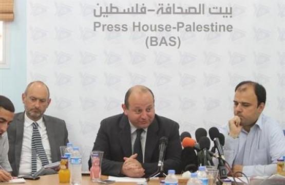بيت الصحافة - فلسطين ينظم لقاء صحفي مع السيد جون رتر رئيس الممثليه الاوروبية