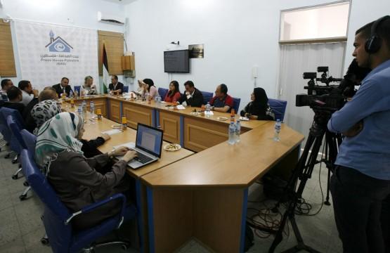لقاء خاص يجمع السفيرة الهولندية بالصحفيين في غزة
