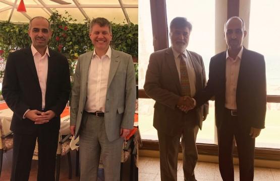 رئيس بيت الصحافة يلتقي قنصلي بريطانيا وكندا في غزة