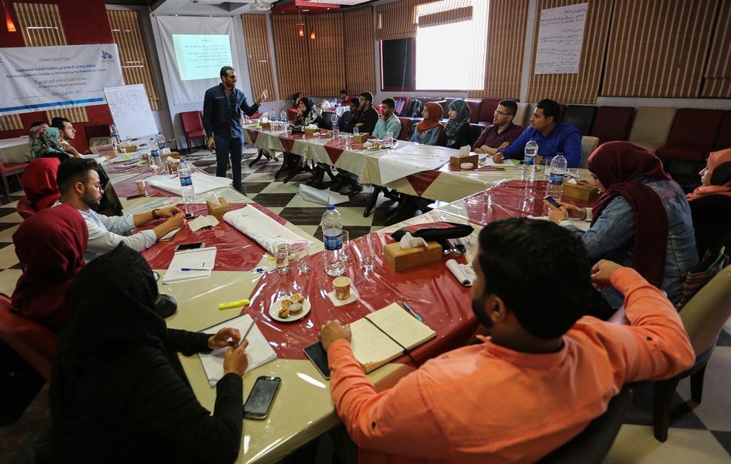 بيت الصحافة يختتم دورة تدريبية حول ' توظيف وسائل الإعلام في مناصرة القضية الفلسطينية'