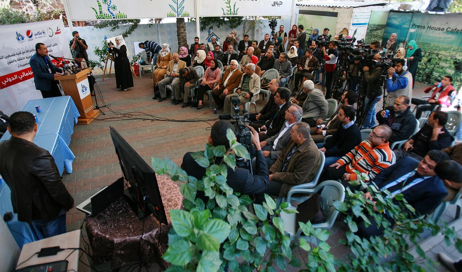 من بيت الصحافة.. إطلاق فعاليات مهرجان القدس السينمائي