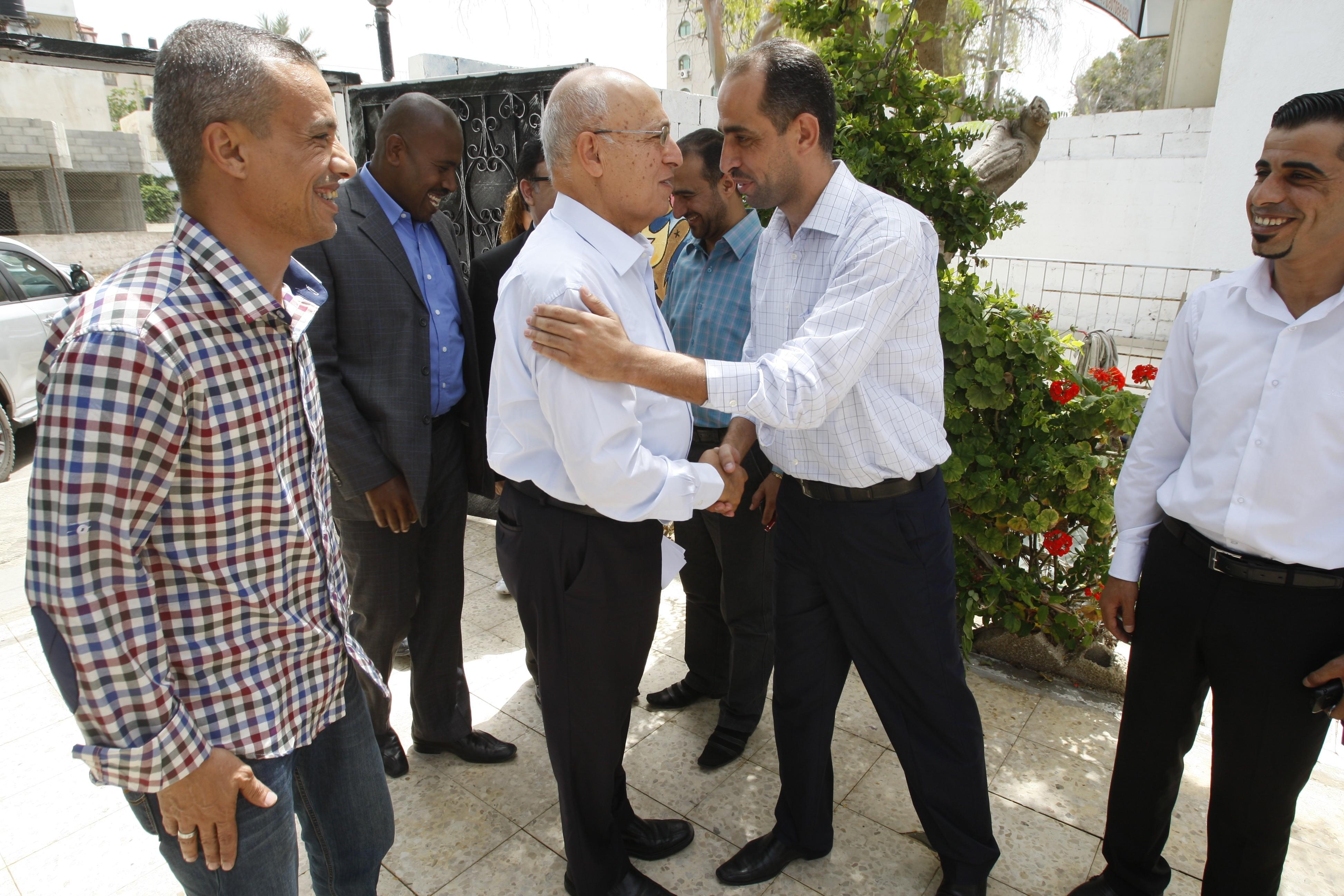بيت الصحافة - فلسطين يسقبل عضو اللجنة المركزية لحركة (فتح) نبيل شعث