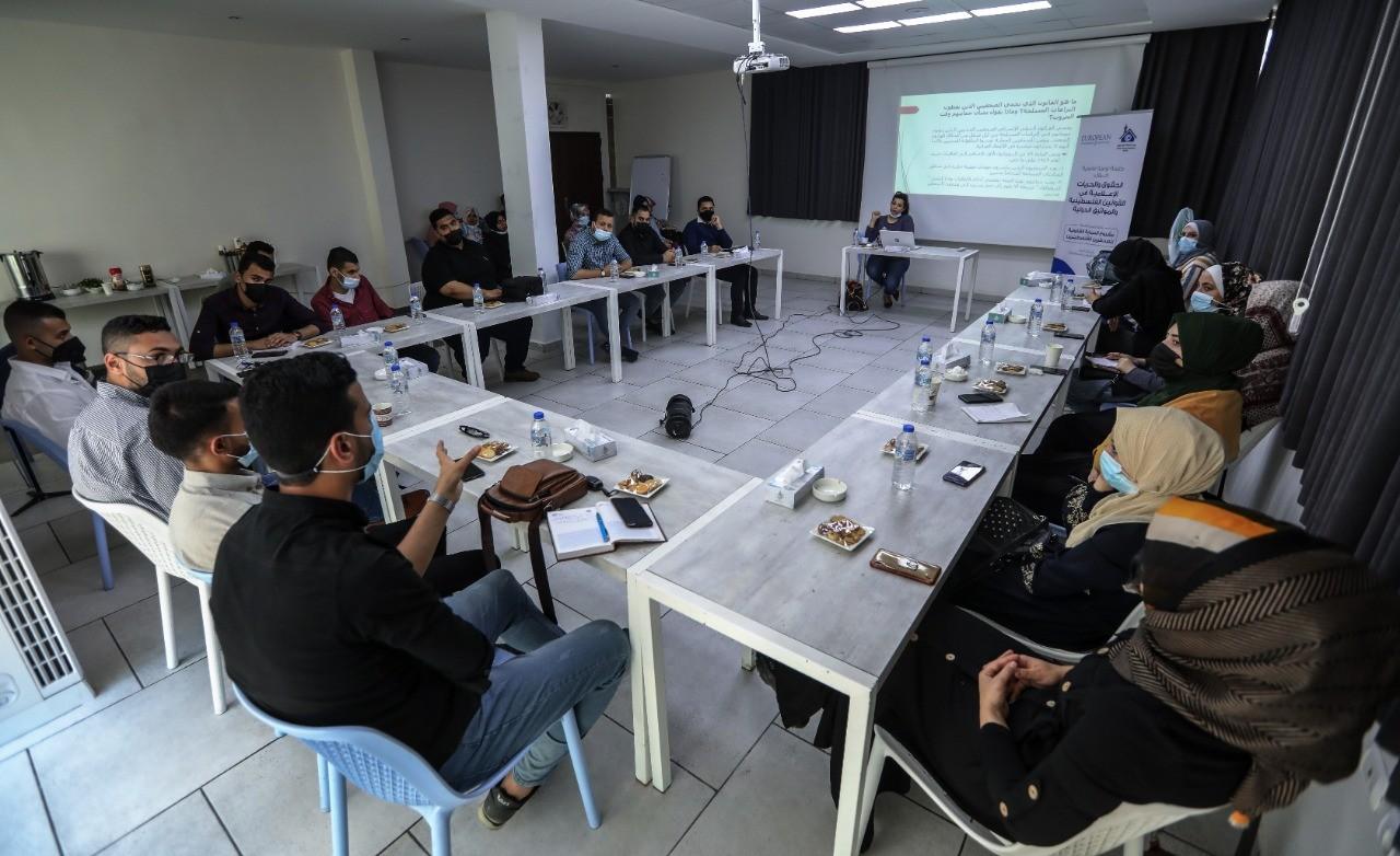 ورشة توعية حول المعايير القانونية للتصوير في الأماكن العامة والخاصة أثناء النزاعات المسلحة
