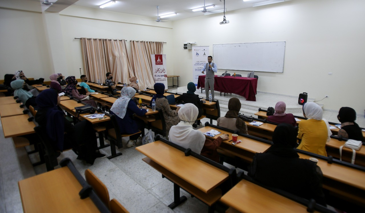 ورشتي توعية قانونية لطلبة كلية الإعلام في جامعة الأقصى