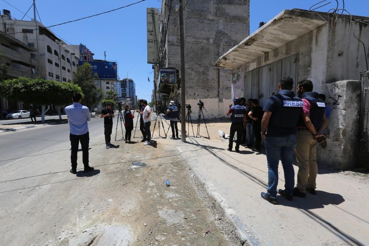 الصحفيون في قطاع غزة خلال العدوان الإسرائيلي على غزة