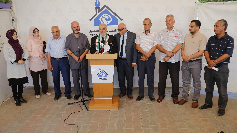 التيار الوطني للمستقلين يعقد مؤتمرا صحفيا في بيت الصحافة