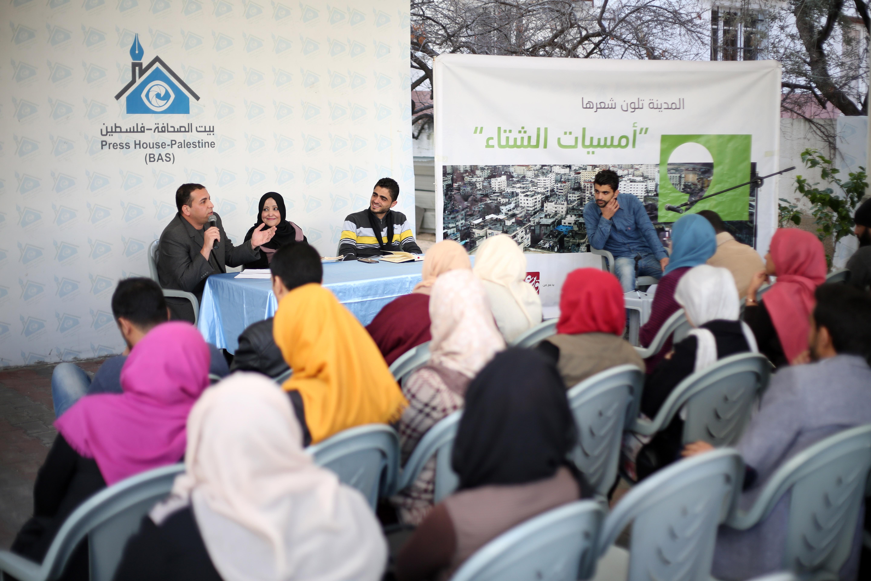 بيت الصحافة يستضيف فعالية أمسيات الشتاء الثالثة